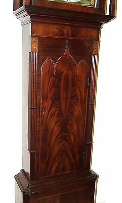 Antique Inlaid Mahogany Moon Phase Longcase Grandfather Clock FURNIVAL OLDHAM 7
