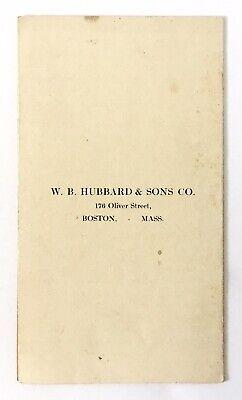 Pamphlet:  Bath Bathroom Vitro Tanks W.b. Hubbard & Sons Co. Boston Nr 3