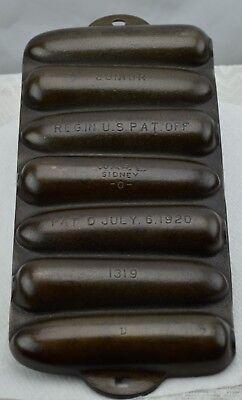 Wagner Ware Junior Krusty Korn Kobs Cornbread Pan 1319 D Vintage 1920 Cast Iron