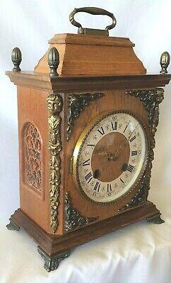 Hermle Clock Oak 8 Day Key Wind Vintage 1977 Bim Bams Via 3 Hammers Silent Mode 4