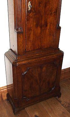 Antique Brass Dial Burr / Pollard Oak Longcase Grandfather Clock MOSS FRODSHAM 10