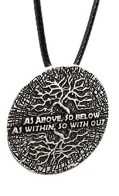 As Above So Below Tree of Life Pendant Hermeticism Kabbalah Cord Necklace 3