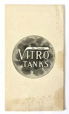 Pamphlet:  Bath Bathroom Vitro Tanks W.b. Hubbard & Sons Co. Boston Nr 2