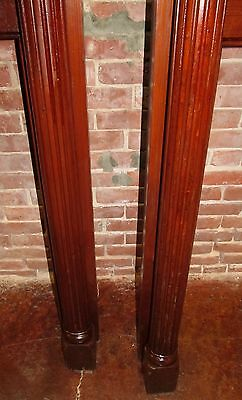 Rare Pair Of Victorian Carved Mantles With Mirrored Galleries 4