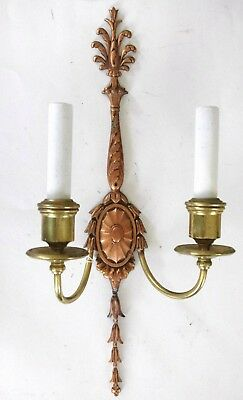 (2) Tall Copper and Brass E F Caldwell Signed Sconces Circa 1904. OFFERS WELCOME 4
