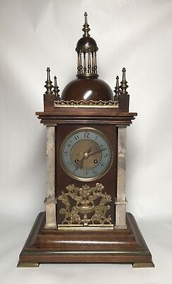 Mid to Late 19th Century Walnut & Brass Bracket Mantel Clock by Planchon. Fusee? 2
