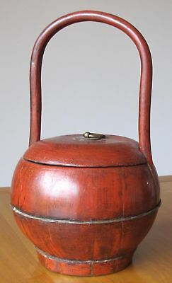 Small Red Antique Basket 6