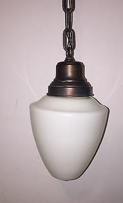 Vintage Pendant Light Antique Beautiful Globe Fixture 5