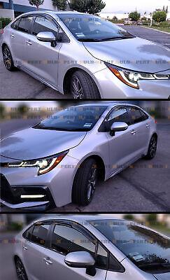 For 2020+ Toyota Corolla 4Dr Sedan Jdm 3D Wavy Window Visor Rain Guard Deflector 4