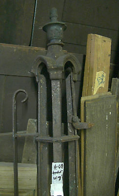 CAST IRON Gate Post ORNATE ARCHITECTURAL ANTIQUE 1850 3