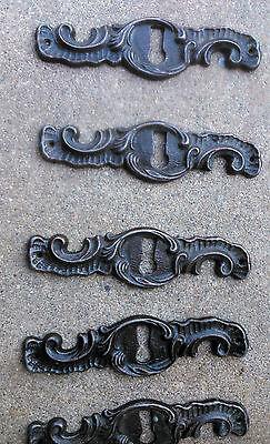 set of 5 Romanian cast iron key lock hold door locks furniture cabinet decor 5