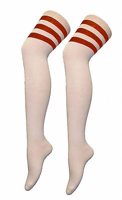 Girls Boys Cotton High Thigh OTK Socks Kids Stripe Raferee over the Knee Socks 2