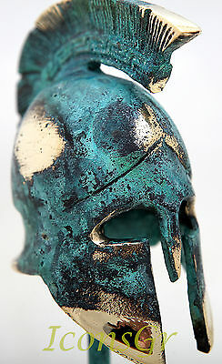 Ancient Greek Bronze Museum Replica Vintage Spartan Officer Battle Helmet 300 4