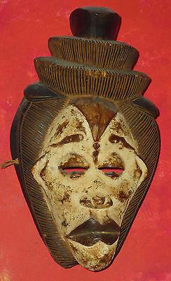 "Punu Mask , Gabon, 20th century, 15.5"" height 2"