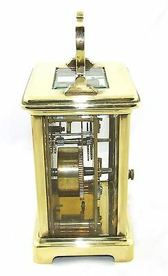 Antique Brass & Bevelled Glass Carriage Clock JAYS 142 & 144 OXFORD ST. W  (46) 6