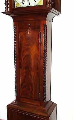* Antique Inlaid Mahogany Longcase Grandfather Clock THOMAS DE GRUCHY JERSEY 8