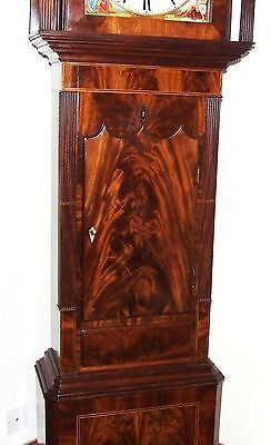 Antique Mahogany Halifax Moon Longcase Grandfather Clock : MADDOCKS FRODSHAM 8