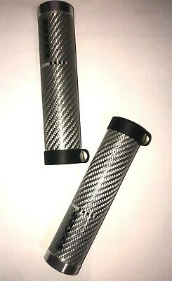 ZZYZX Corratec MTB Carbon Design Lenkergriffe 1 Paar gummiert silber NEU
