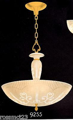Vintage Lighting 1930s Art Deco Markel chandelier   Gorgeous Color 2