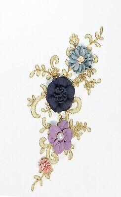 2 x  Lace Applique Wedding Motif Sew On size: 22 cm x 10 cm :#39 (9 Colours) 5