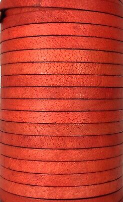 Flat 3, 4, 4x2, 5mm Real Genuine Craft Jewellery Leather String Cord Lace Thong 6