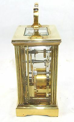 MAPPIN & WEBB Brass Carriage Mantel Clock Timepiece with Key  Working Order (61) 5