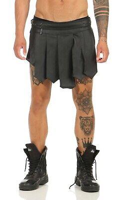 XS-XXXL*Gladiator Kilt Skirt Legionär Rock Schwarz NEU Gürtel Schnallen Larp NEU 8