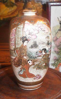 RARE STUNNING ANTIQUE JAPANESE SATSUMA MEJI PERIOD c. 1800's VASE 6