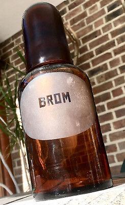 Apotheker -  sehr schöne Glaskappenflasche - BROM -sehr selten- Gruseldeko :-)1