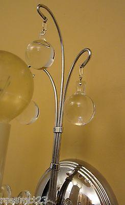 Vintage Sconces pair antique 1930s Art Deco chrome sconces   Dazzling 2
