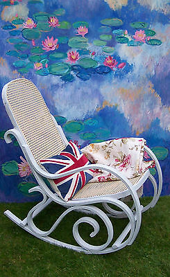 Antique French Rocking chair bergere chair nursing chair shabby chic vintage 2