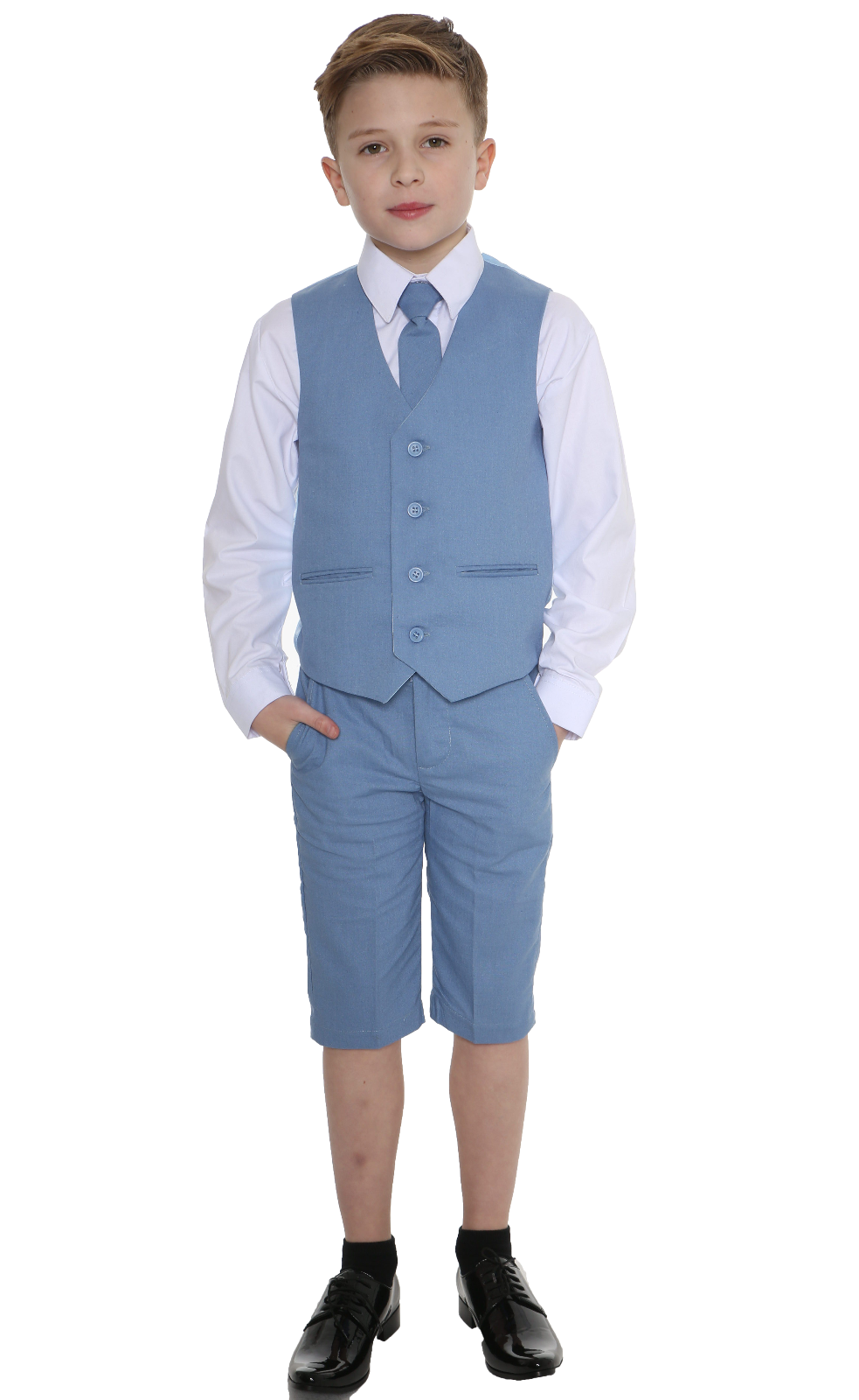 BOYS SUITS LINEN Suit, 4 Piece Short Set Suit, Wedding Page boy ...
