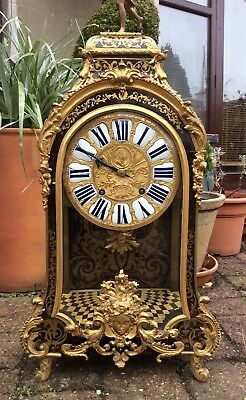 Huge 17th / 18th Century French Louis XIV Boulle Cartel Bracket Clock. Not fusee 4