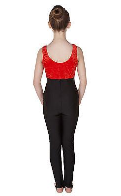 Catsuit Vest Top Plain Front - Crushed Velvet + Black Cotton (#GEMMA) 2