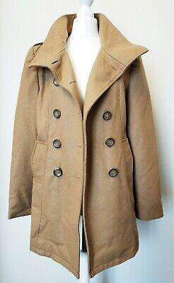 ETAM Manteau femme taille 36S en laine beige foncé Manteau
