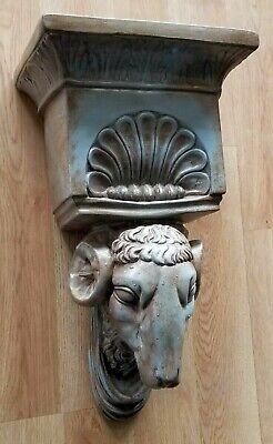Ram Head Regency Plaster Wall Bracket Corbel Shelf 7