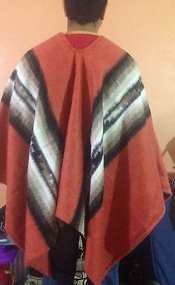 Luxury Inka Treasure Alpaca Wool Poncho-Cape, Handmade, Unisex. Warn & Softness 6