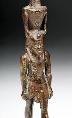 Egyptian Bronze Striding Nefertum, ex-Sotheby's Lot 6
