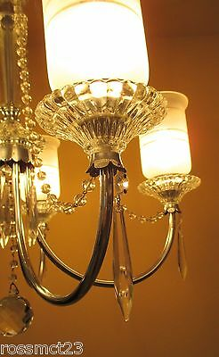 Vintage Lighting all original 1940s crystal chandelier 5