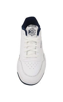 REEBOK Club Memt Memory Tech Classic White Navy Blue Athletic Sneakers Men Shoes 4