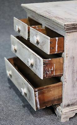 Rare Antique 1840s Era Salesmans Sample Painted Dresser Jewelery Box 8