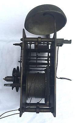 Oak & Mahogany 8 Day Inlaid And Cross Banded Long Case Grandfather Clock 10