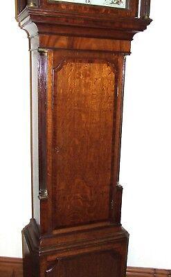 ~ Antique Oak & Mahogany Grandfather Longcase Clock BENJAMIN PEERS CHESTER 7
