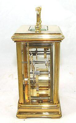 ENGLISH St James LONDON Brass Carriage Mantel Clock 11 Jewels : Working (59) 4