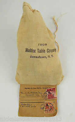 Antique Maddon Table Company Drawer Pulls / Knobs W/ Hardware Sack & Tag 8