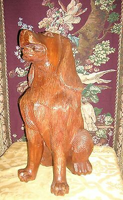 Antique Beautifully Carved and Detailed Mahogany Fireplace Dogs (2) 3