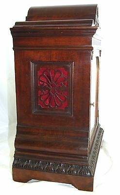 Winterhalder W & H Antique Mahogany TING TANG Bracket Mantel Clock CLEAN SERVICE 7