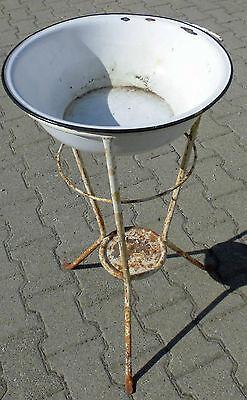 dachbodenfund lavabo antik wasch tisch st nder metall email schale garten deko eur 179 99. Black Bedroom Furniture Sets. Home Design Ideas