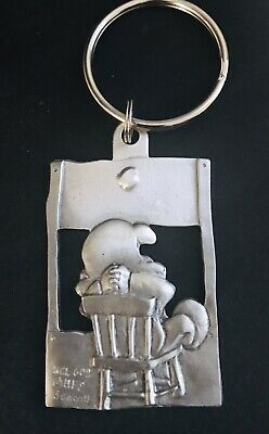 Pewter LUCY Charlie Brown The Doctor Is In Psychiatric Peanuts 5 Cents Keychain