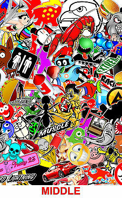 "1 STICKER BOMB SHEETS JDM HONDA SKULL DECAL 15/"" x 30/"" EACH 3M WRAP VINYL MATTE"